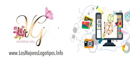 Logo de flores para tarjetas