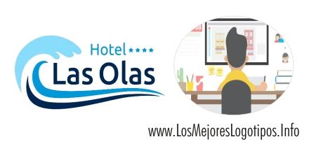 Logotipos con diseño para hoteles de playa