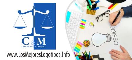 Logotipo de abogados con dama de la justicia ciega