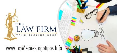 Modelo de logo de abogados con balanza