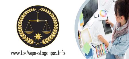 Logos de abogados balanza