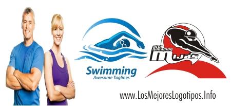 Logos deportivos de natación