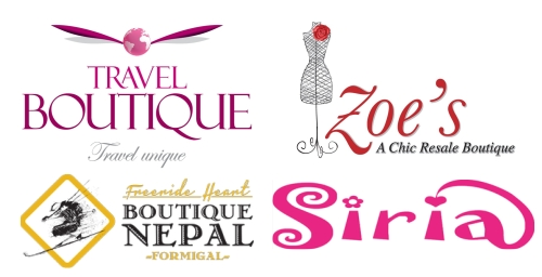 Logos de boutiques famosas